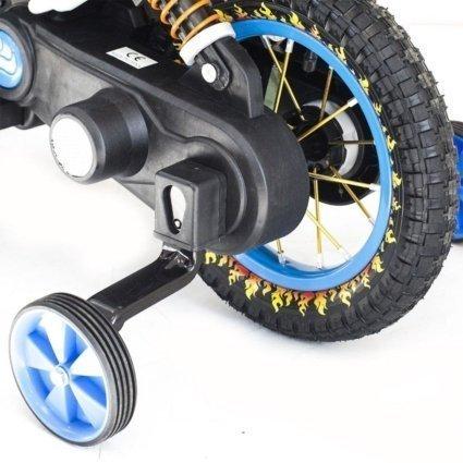 Детский кроссовый электромотоцикл синий Qike TD 6V - QK-3058-BLUE